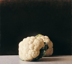 Cauliflowers, 2006, oil on wood, private collection, Tel Aviv