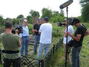 Tyomkin at the shooting hole, Prankipsak, Ukraine
