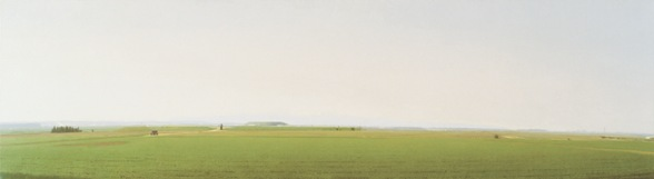 Tel Kakun, 2005–2007, Oil on linen, 68x250 cm. Private collection