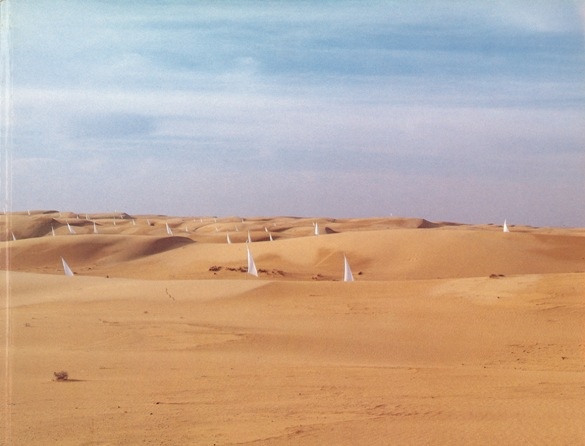Ezra Orion, Sails in the Sinai Sands, March 20, 1982, color photograph