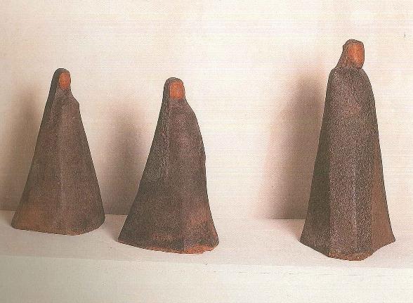 Hedwig Grossman-Lehman, Bedouins, 1964, clay