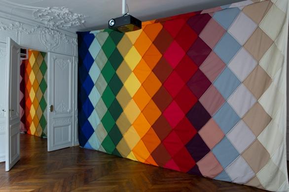 Ulla Von Brandenburg, detail from the installation Mirrorsong, 2012