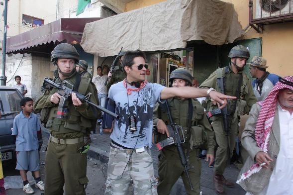 Director Yariv Horowitz on the set of Rock the Casbah/Photo: Yoni Hamenachem