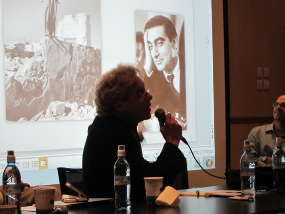 Yaron Seelig and Robert Capa/Photo: Ayelet Dekel