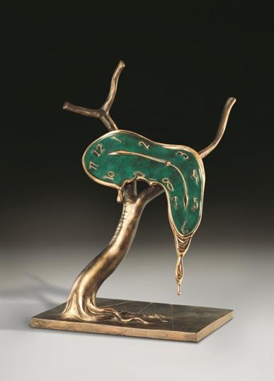 Salvador Dali, Profile of Time, bronze sculpture, undated