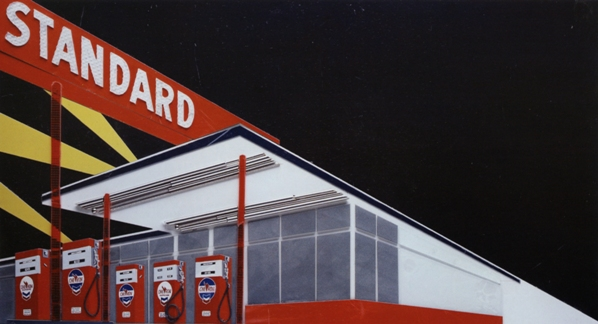Standard at Night, after Ruscha (Pictures of Cars), 2008, digital C-print, 129.5 x 241.3 cm. Edition of 6.