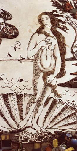 The Birth of Venus, after Botticelli (from Pictures of Junk), 2008, digital print, 234 x 405cm. Edition of 4 (central part of diptych)