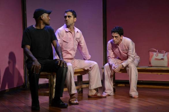 Emos Ayeno, Guy Mesika and Yuli Seker in Kasade/Photo: Kfir Bolotin
