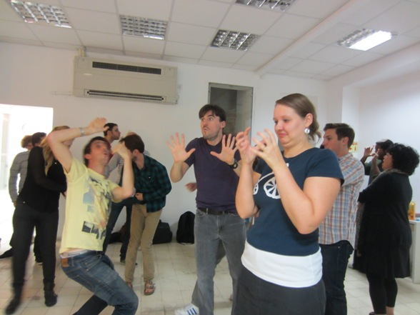What are these people doing? Improv at The Stage/Photo: Ma'ayan Dekel
