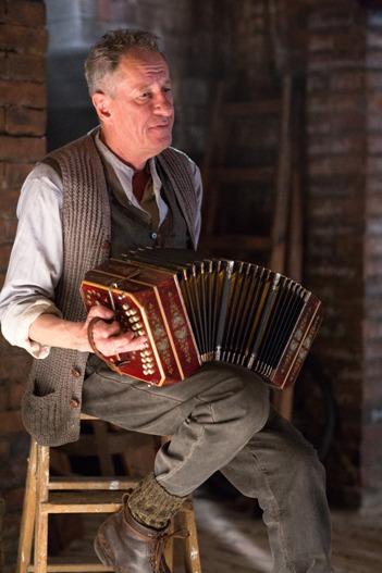 Geoffrey Rush as Hans Hubermann in The Book Thief.
