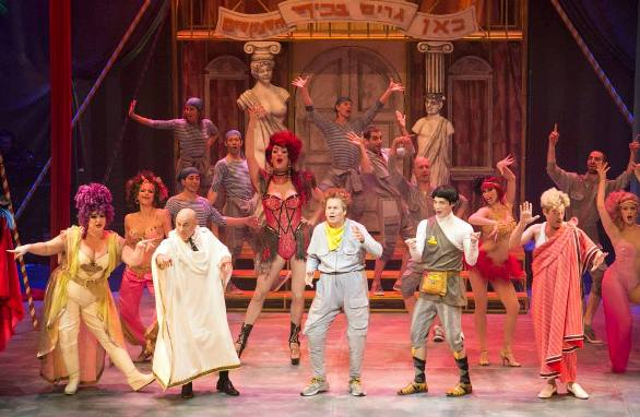 They deliver as promised: Comedy Tonight! The Cameri production of A Funny Thing Happened on the Way to the Forum/Photo: Daniel Kaminsky