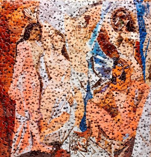 Les Demoiselles d'Avignon, after Pablo Picasso, 2009, from the series Gordian Puzzles, digital C-print