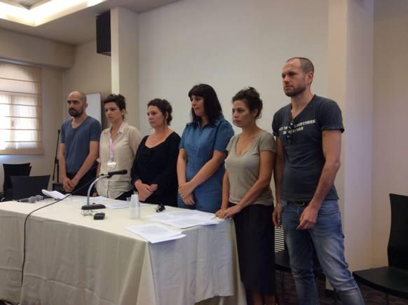 Shlomi Elkabetz, Tali Shalom Ezer, Keren Yedaya, Efrat Corem, Shira Geffen, Nadav Lapid/Photo: Ayelet Dekel