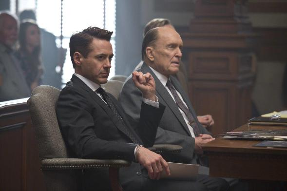 The Judge - tense times in court for father (Robert Duvall) and son (Robert Downey Jr.)