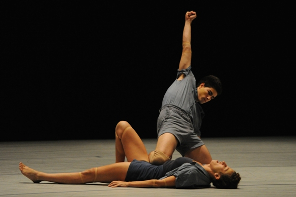Almog Loven and Einat Betzalel in We Do Not Torture People by Noa Shadur/Photo: Tami Weiss