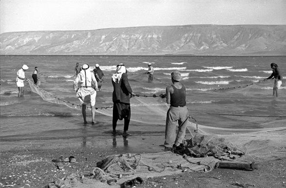 Fishermen on the Kinneret/Photo: Naftali Oppenheim