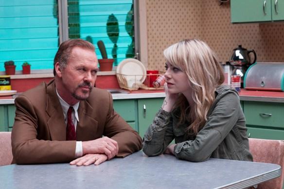 Michael Keaton and Emma Stone in Birdman