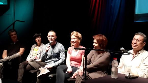 Ola Schur Selektar, Shalom Michaelshvili, Dana Meinrath, Edna Mazya, Noam Semel (L to R)/Photo: Ayelet Dekel