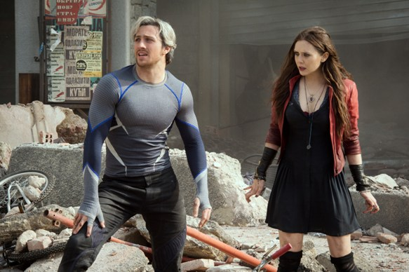 Quicksilver/Pietro Maximoff (Aaron Taylor-Johnson) and Scarlet Witch/Wanda Maximoff (Elizabeth Olsen) Ph: Jay Maidment ©Marvel 2015