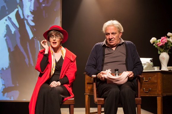 C'ella (Yael Toker) with Ezekiel (Arie Tcherner)/Photo: Gerard Alon
