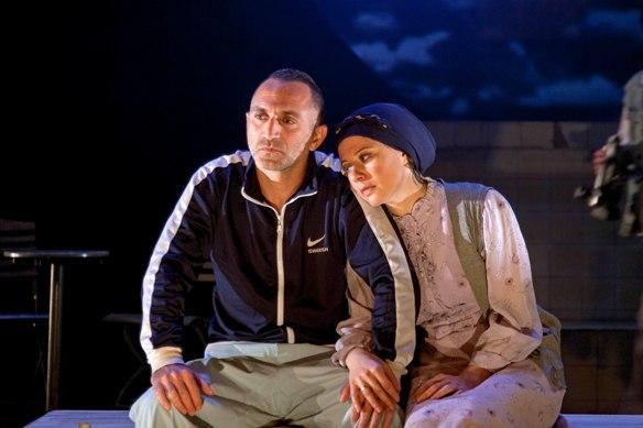 Shalom Michaelshvili and Ola Schur-Selektar in Lovesick On Nana Street/Photo: Gerard Alon