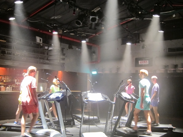 Treadmills in the Tmuna Bar/Photo: Ayelet Dekel
