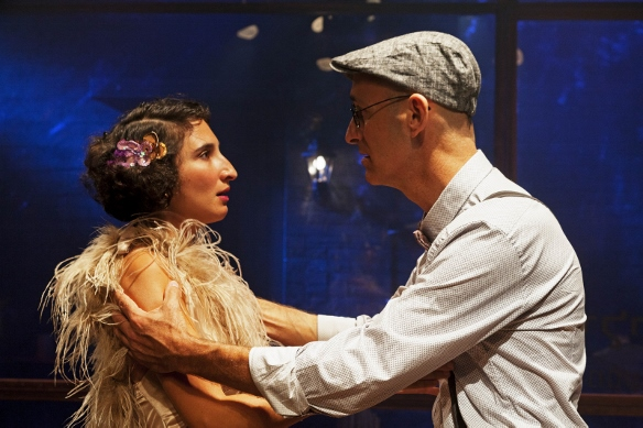 Avigail (Natalie Eliezerov) and Martin (Nir Ron) - A Far Away Song From Long Ago/Photo: Gerard Alon